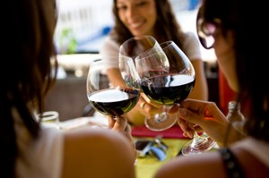 What could be nicer than a glass of wine with friends?